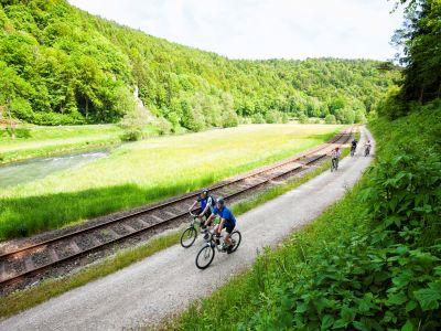 Gut ausgebaute Radwege