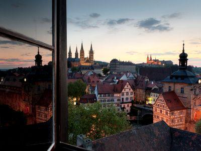 Blick auf die Bergstadt Bambergs