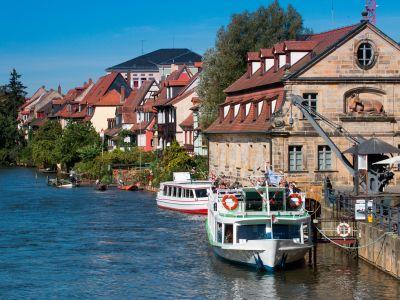 Schifffahrt vor Klein Venedig in Bamberg