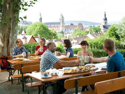 Genuss pur - ein Besuch auf dem Spezi-Keller in Bamberg mit traumhaften Blick über die Altstadt